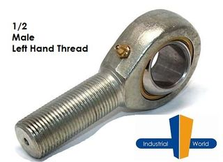 MALE IMPERIAL LEFT HAND ROD END 1/2 INCH