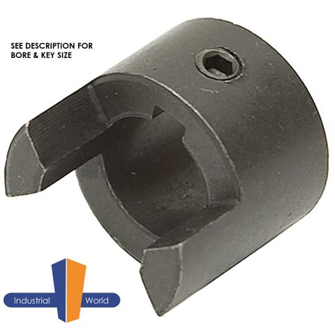 Jaw Coupling Half - 9mm Bore - 3mm Key