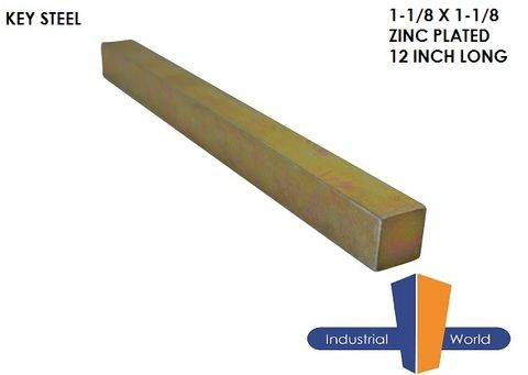 Key Steel 1-1/8 x 1-1/8 Inch