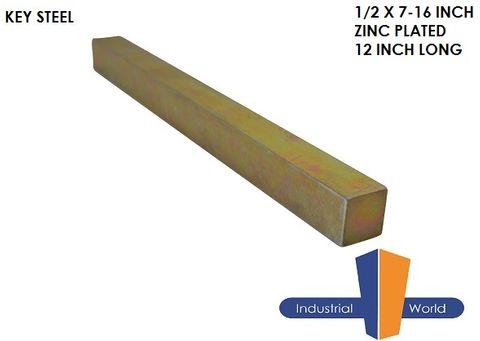 Key Steel 1/2 x 7/16 Inch
