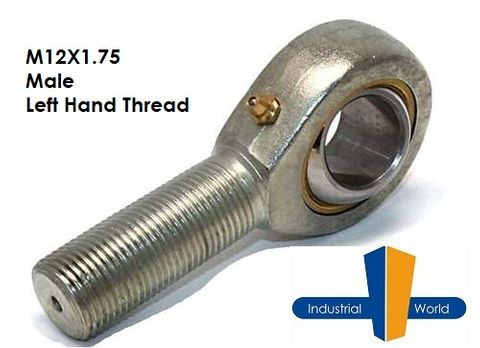 MALE METRIC LEFT HAND ROD END M12X1.75
