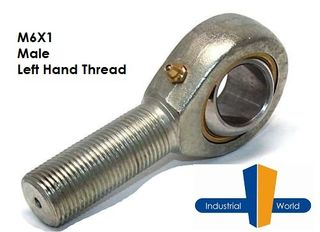 MALE METRIC LEFT HAND ROD END M6X1
