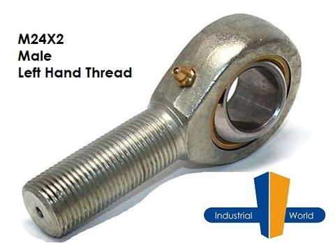 MALE METRIC LEFT HAND ROD END M24X2
