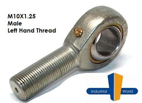 MALE METRIC LEFT HAND ROD END M10X1.25