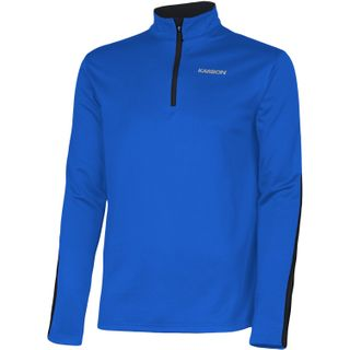 KARBON CHRONUS  MENS ZIP SKIVVY - OLYMIC BLUE