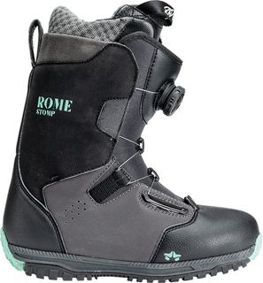 ROME 20 STOMP BOA WOMENS SNOWBOARD BOOT -  BLACK - 7.5
