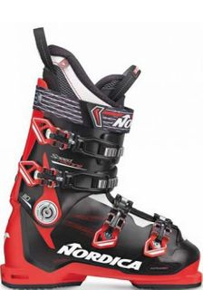 NORDICA  SPEED MACHINE 110 MENS SKI BOOTS - BLACK/RED/WHITE - 28.5