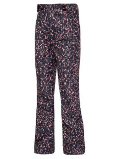 PROTEST KIDS  PANT BROOMY, PINK ANIMAL PRINT, 12/152