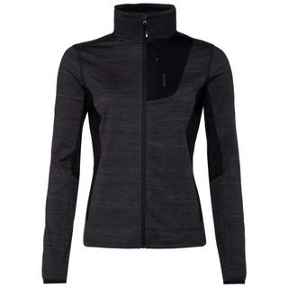 PROTEST WOMENS FULL ZIP SKIVVY ROSLAKE, TRUE BLACK, 2XL