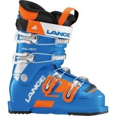 LANGE RSJ 60 SKI BOOTS POWER BLUE/ORANGE 24.5