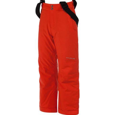 DARE2B TAKE ON KIDS PANTS - FIERY RED - SIZE 3/4