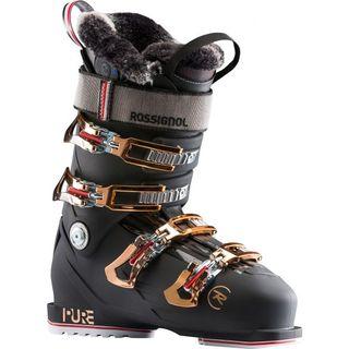 ROSSIGNOL LADIES BOOT PURE PRO HEAT NIGHT BLACK/ ROSE GOLD 23.5