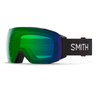 SMITH I/O MAG ADULTS GOGGLES - BLACK WITH CHROMAPOP EVERYDAY GREEN MIRROR LENS AND CHROMAPOP STORM ROSE FLASH LENS