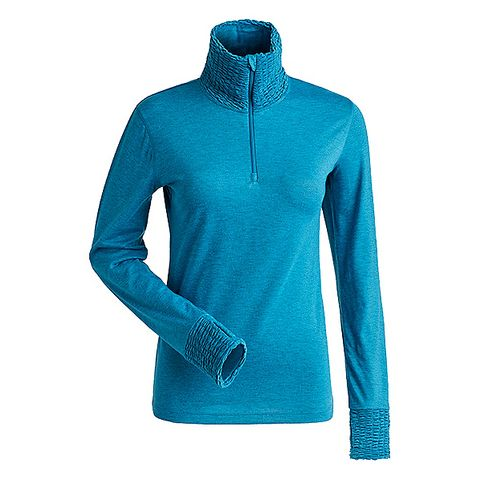 NILS HOLLY T-NECK WOMENS TOP - TEAL - SIZE XS