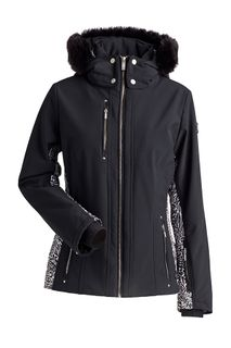 NILS COSSETTE WOMENS JACKET, FAUX FUR, BLACK, 10