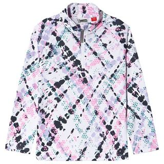 SPYDER SURFACE KIDS ZIP SKIVVY, IMPRESS PRINT, L