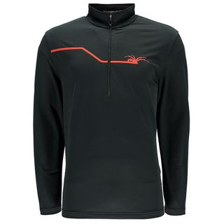 SPYDER COMMANDER MENS TOP - BLACK/VOLCANO - SIZE S