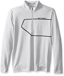 SPYDER COMMANDER MENS TOP - WHITE/BLACK - SIZE L