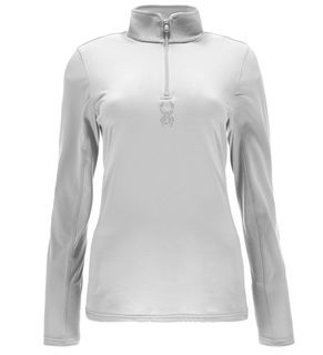 SPYDER SHIMMER BUG VELOUR WOMENS TOP - WHITE - SIZE 8