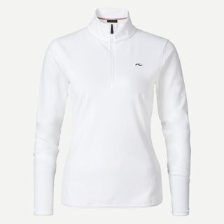 KJUS FEEL HALF ZIP WOMENS TOP - WHITE - SIZE 40/L