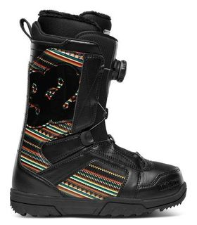 THIRTYTWO STW BOA WOMENS SNOWBOARD BOOTS - BLACK/PRINT - SIZE 8.5