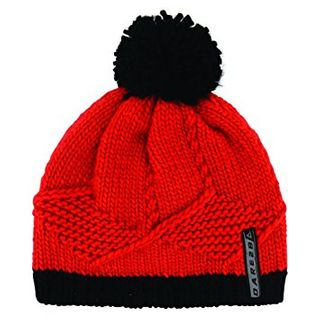 DARE2B KNOW IT ALL KIDS BEANIE - FIERY RED/BLACK