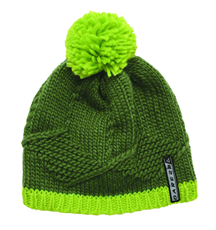 DARE2B KNOW IT ALL KIDS BEANIE - KHAKI/LIME GREEN - SIZE 3 TO 6 YEARS