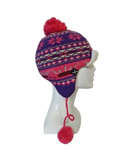 XTM BINDI PERU KIDS BEANIE - HOT PINK