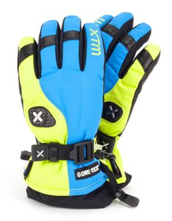 XTM ASPEN GORE-TEX KIDS GLOVES - CITRON/BLUE