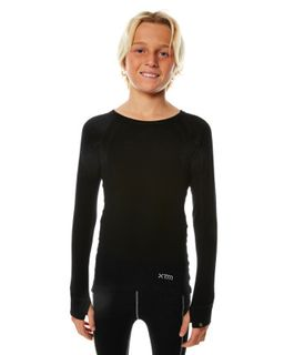 XTM MERINO KIDS TOP - BLACK - 230 GRAMS