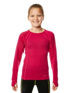 XTM MERINO KIDS TOP - DEEP PINK - 230 GRAMS