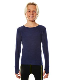 XTM MERINO KIDS TOP - NAVY - 230 GRAMS