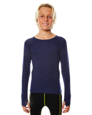 XTM MERINO KIDS TOP - NAVY - 230 GRAMS - SIZE 4