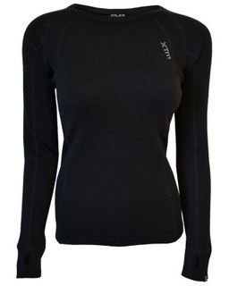 XTM MERINO WOMENS TOP - BLACK - 230 GRAMS - SIZE 16