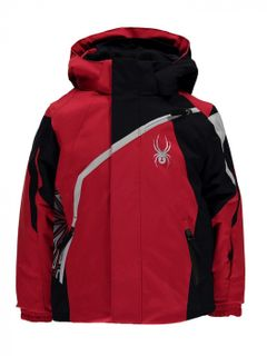 SPYDER MINI CHALLENGER BOYS JACKET - RED/BLACK/CIRRUS - SIZE 3