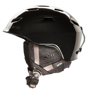PRET LUXE WOMENS HELMET - GLOSS BLACK - SIZE S