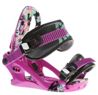 K2 KAT 2014 WOMENS SNOWBOARD BINDINGS - PURPLE/VIOLET