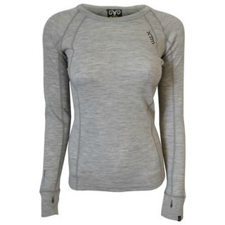 XTM MERINO WOMENS TOP - LIGHT GREY - 230 GRAMS