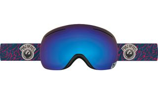DRAGON X1 ADULTS GOGGLES - POW HEADS WITH BLUE STEEL LENS WITH YELLOW BLUE ION LENS