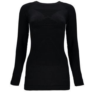 SPYDER VENOM WOMENS LONG SLEEVE THERMAL COMPRESSION TOP - BLACK