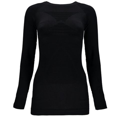 SPYDER VENOM WOMENS LONG SLEEVE THERMAL COMPRESSION TOP - BLACK - SIZE XS