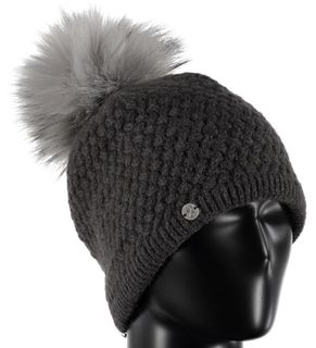 SPYDER ICICLE WOMENS BEANIE - BLACK/SILVER (SILVER FUR)