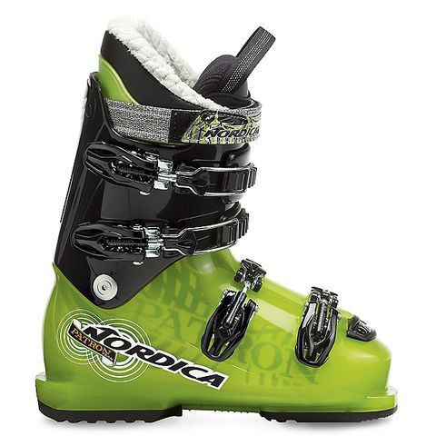 NORDICA PATRON TEAM KIDS BOOTS  - TRANSPARENT GREEN/BLACK - SIZE 20.5