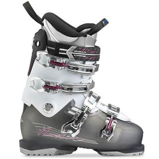 NORDICA NXT N3W WOMENS SKI BOOTS - TRANSPARENT SMOKE BLACK/WHITE