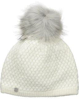 SPYDER ICICLE WOMENS BEANIE - WHITE/SILVER (SILVER FUR)