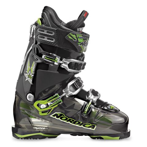 NORDICA FIREARROW F1 MENS SKI BOOTS - TRANSPARENT BLACK/BLACK - SIZE 27.5