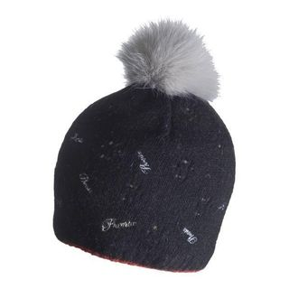 PHENIX SURROUND KNIT WOMENS BEANIE - BLACK