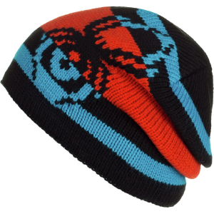 SPYDER MISSION KIDS BEANIE - BLACK/RAG/ELECTRIC BLUE