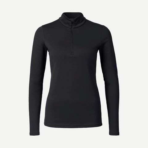 KJUS FEEL HALF ZIP ('18) WOMENS TOP - BLACK - SIZE 36/S
