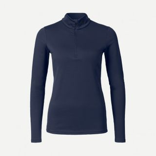 KJUS FEEL HALF ZIP ('18) WOMENS TOP - ATLANTA BLUE